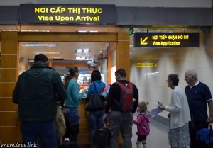 """""""Visa On Arrival"""" office in Old Terminal – Noi Bai Int'l airport (in Hanoi city)"""