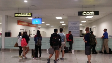 """""""Visa On Arrival"""" office in New Terminal – Noi Bai Int'l airport (in Hanoi city)"""